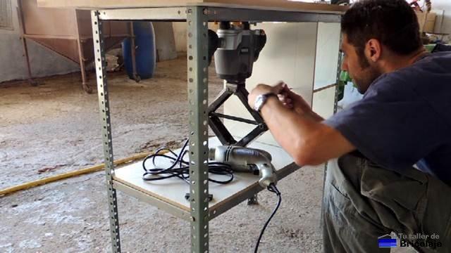 C mo hacer una mesa para la fresadora 2 parte los for Mesa fresadora casera