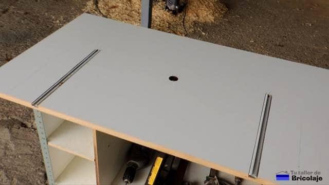 C mo hacer una mesa para la fresadora 3 parte el for Mesa fresadora casera