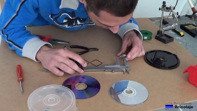 midiendo para cortar a 18 mm