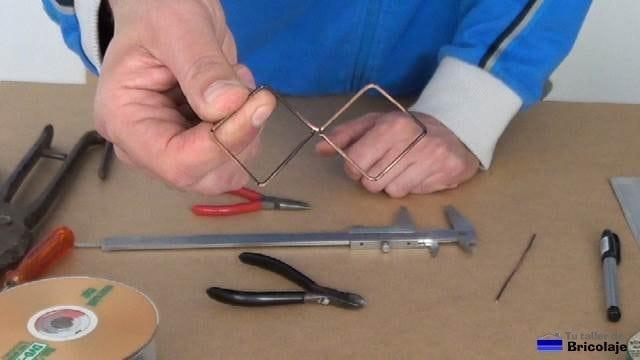 biquad terminado con cobre de 1.5 mm de diámetro