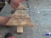 parte del árbol de navidad de madera de palets