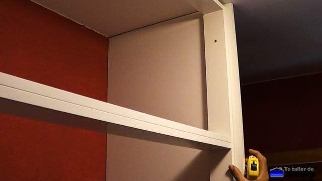 lateral del armario empotrado