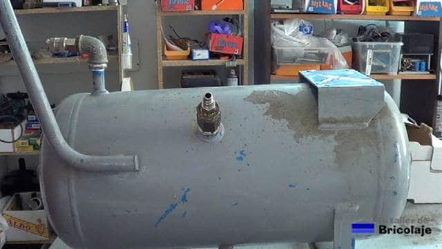viejo compresor modificado para ser reutilizado para aumentar la capacidad de otro compresor