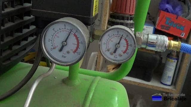 presiones del compresor que genera el aire
