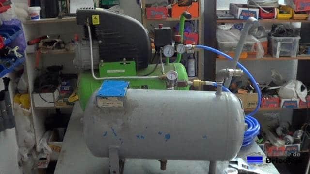 ambos compresores unidos para aumentar la capacidad de los compresores