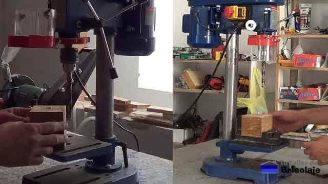 modificación a taladro de columna para aumentar zona de trabajo