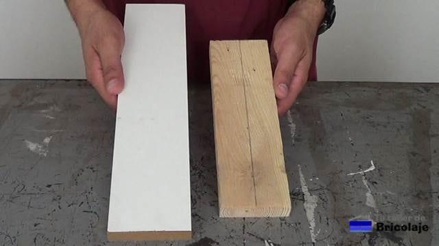 la madera a la que realizaremos el avellanado