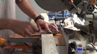 marcando la madera para posteriormente cortarla