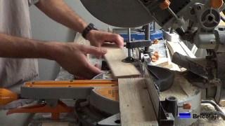 podemos cortar la madera con una ingletadora, una mesa de corte, una sierra de calar...