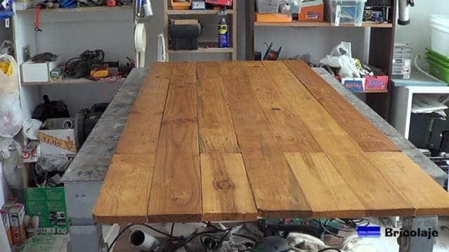 cabecero de madera de palets