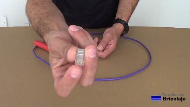 conector rj45 para hacer el cable de red cruzado