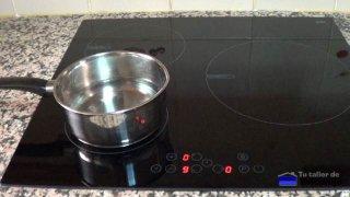probando la nueva placa de cocina