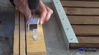 perforando el cuadradillo de aluminio