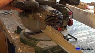 cortando el ángulo de aluminio de 30 x 30 mm
