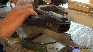 cortando el ángulo de aluminio de 20 x 20 mm