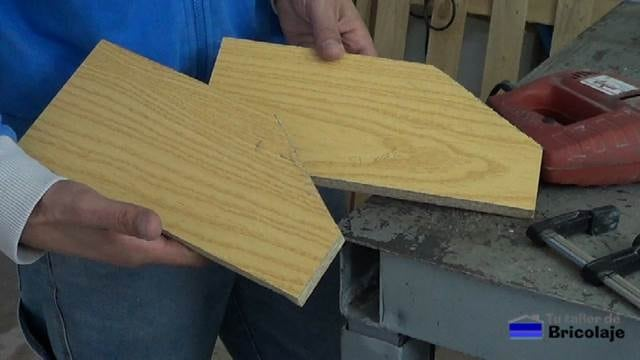 laterales de madera de la caja de madera para organizar el taller