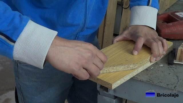 trasladando el corte diagonala la otra madera