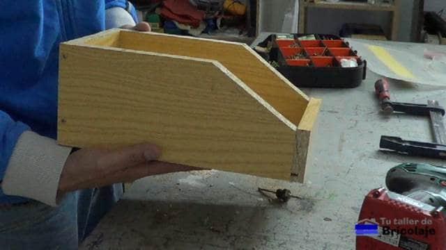 caja de madera para organizar