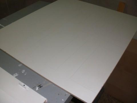 madera en bruto donde calcamos las piezas para luego cortalas con la caladora