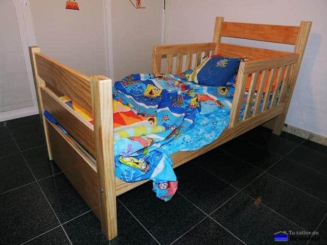 C mo hacer una cama para ni os en madera - Camas extensibles para ninos ...
