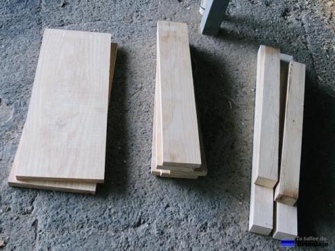 las distintas piezas que formaran el piecero y el cabecero