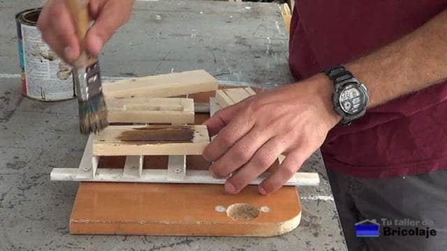 decorando la madera de palets