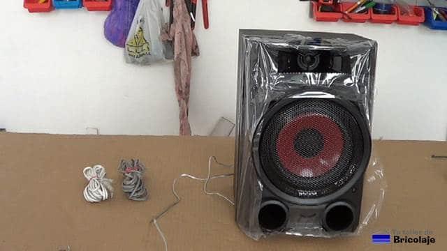 alargar cable de audio a un altavoz