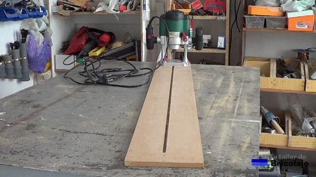 plantilla para hacer cortes circulares con la fresadora o router