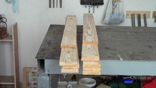 madera de palet para hacer el cubo de basura
