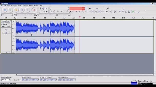 capturando el audio del cassette con el programa audacity