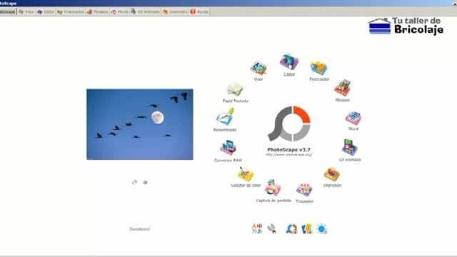 pantalla principal del programa Photoscape