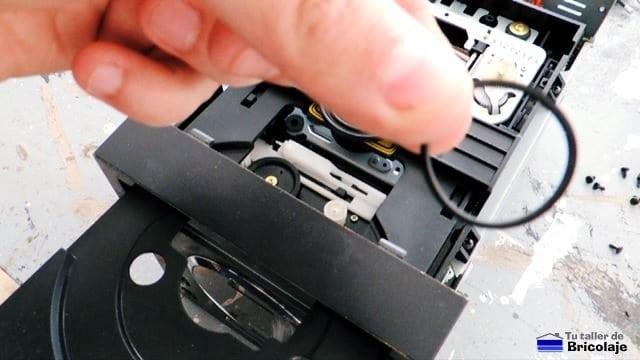correa de caucho nueva o reutilizada de otro aparato