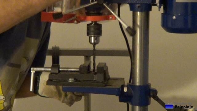 perforando los angulos con broca de 8