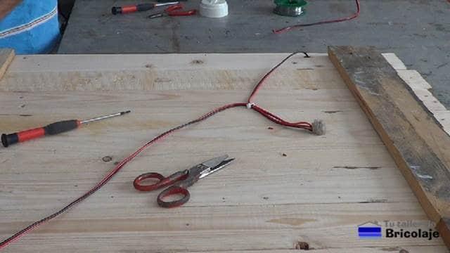 cable para alimentar las tiras de led