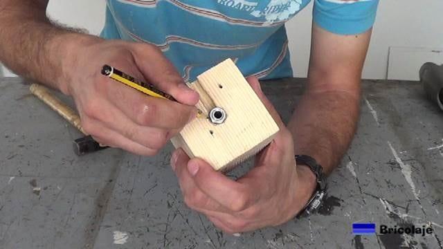 marcando la tuerca de la varilla roscada hueca