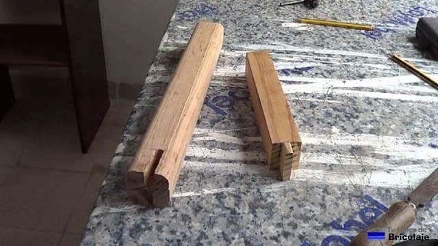 cómo unir madera mediante caja y espiga