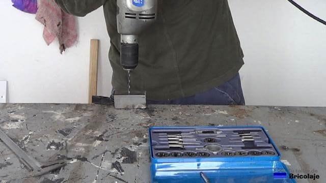 perforando el hierro con broca de 5