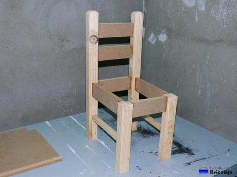 estructura que forma la silla