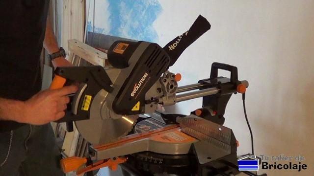 tope para cortar los materiales a la misma distancia