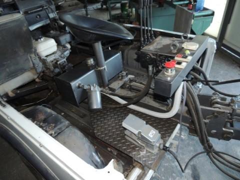 inventos caseros: control de mandos y asiento de la excavadora