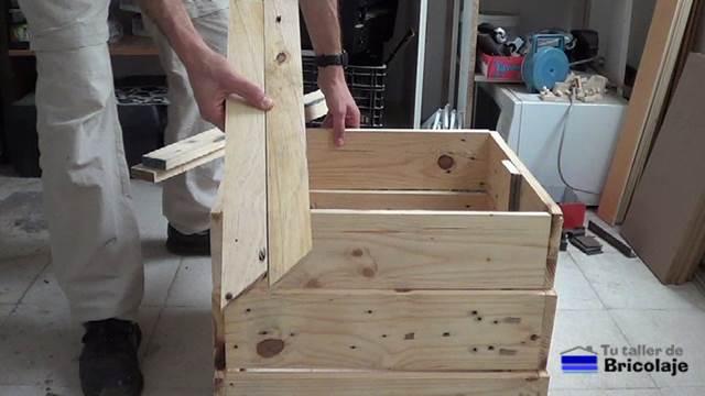 C mo hacer una jardinera con madera de palets 1 2 - Jardineras de madera caseras ...