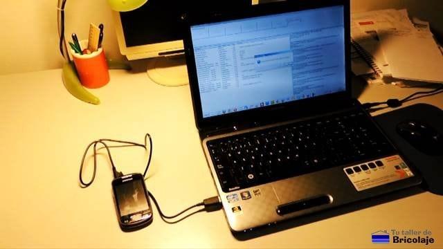 rooteando el móvil con el programa SuperOneClick