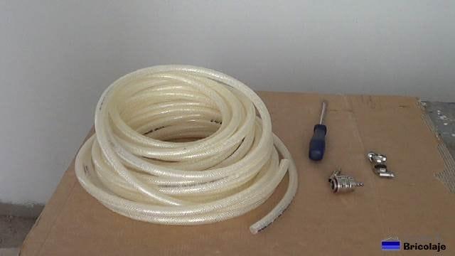 materiales y herramientas necesarias para realizar la manguera a medida