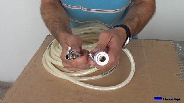 conectores para el aire conectados a la manguera a medida