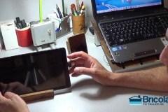 conectando el pendrive dual en la tableta