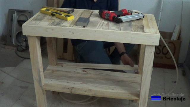 C mo hacer una mesa recibidor con palets - Como hacer una mesa con palets ...