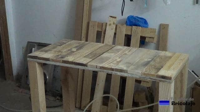 cubierta superior de la mesa recibidor de palets