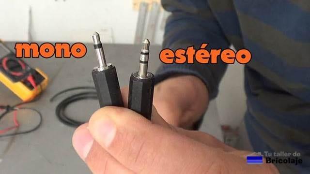 diferencia entre un conector mono y estéreo