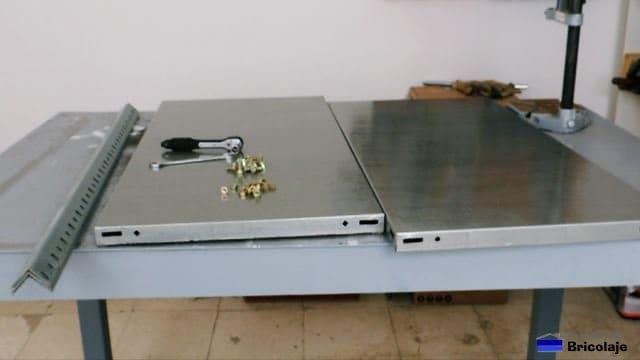 materiales y herramientas a usar para montar la estantería metálica a medida