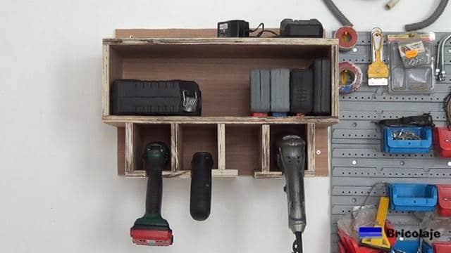 cómo hacer un organizador de taladros y sus accesorios